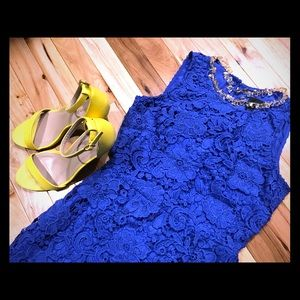 J. Crew lace overlay cocktail dress